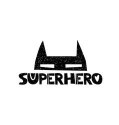 superhero little herohand drawn style typography vector image