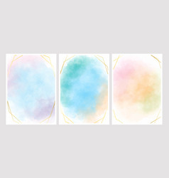 sweet cotton candy watercolor background vector image