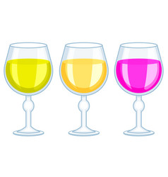 tall wineglass icons vector image