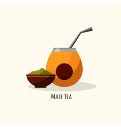 Tea icon in flat style isolated flat vector