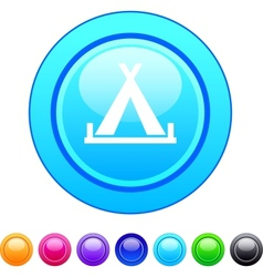Tent circle button vector