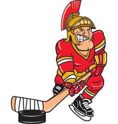 Trojan sports logo mascot hockey vector