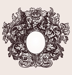 Vintage frame element vector