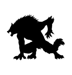 Werewolf silhouette ancient mythology fantasy vector