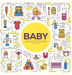 World thin line breastfeeding week and kids vector