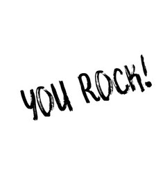 You rock rubber stamp vector