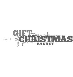 a special christmas gift text word cloud concept vector image