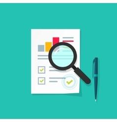 Analytics data research icon analysis vector image