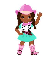 Beautiful cowgirl vector