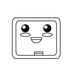 cute blackboard cartoon vector image vector image