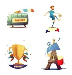 Football championship 2016 set vector image vector image