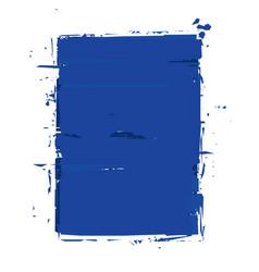 grunge frame - blue vector image vector image