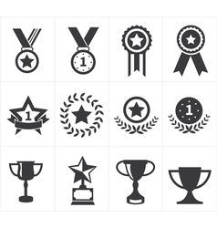 icon trophy award vector image