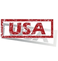USA outlined stamp vector image