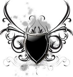 abstract metallic shield vector image