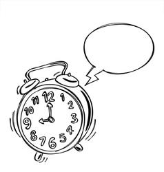Alarm Clock Bubble Speech vector image vector image