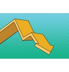 Chart arrow course vector image vector image