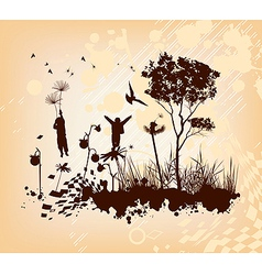 Dandelion Flight Concept Background vector image