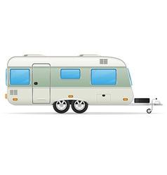 trailer caravan 02 vector image