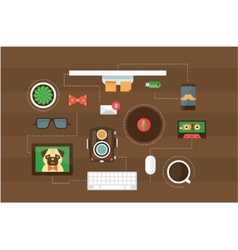 hipster desk header vector image