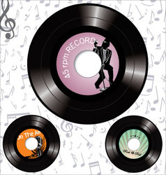 record labels vector image vector image