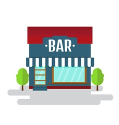 Bar or restaurant of flat style building vector image
