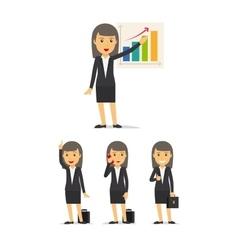 Businesswoman character set vector image