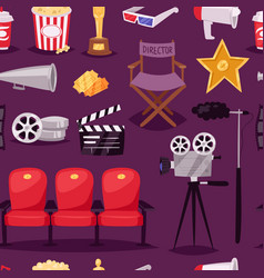 cinema movie making tv show equipment tools vector image