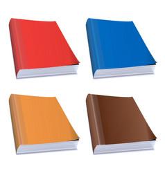 hardback books vector image