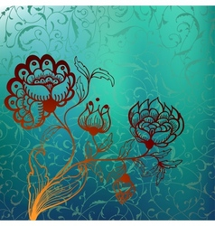 Mystic background with stylized flower vector image vector image