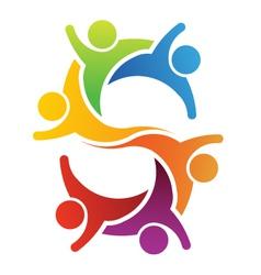 Teamwork letter S vector image vector image