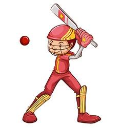 A cricket player vector