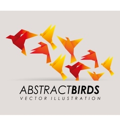 abstract bird vector image