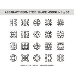 Abstract geometric shape monoline 30 vector