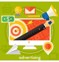 Advertising concept vector