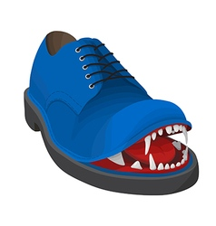 Angry blue shoe vector image