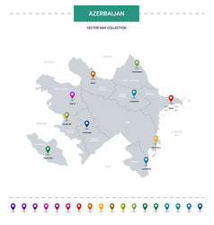 Azerbaijan with location pointer marks vector