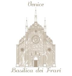 Basilica dei Frari vector