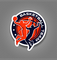 basketball team championship logo sign symbol vector image
