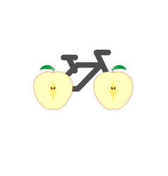 Bicycle is a healthy lifestyle creative idea cut vector