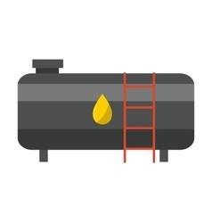 Big industrial oil tanks vector