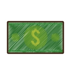 Bills money isolated icon vector