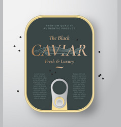 black caviar seafood can container vector image