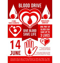 blood donation poster vector image