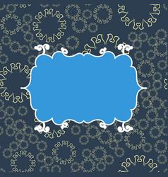 Blue vintage seamless pattern background vector