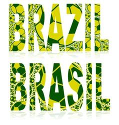 Brazil soccer balls vector