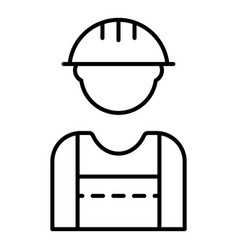 build worker icon outline style vector image