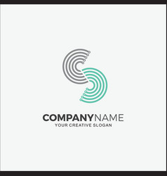business logo technology modern initial s vector image