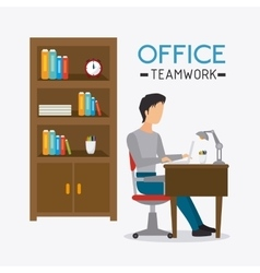 Business office and human vector image