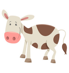 Calf farm animal character vector